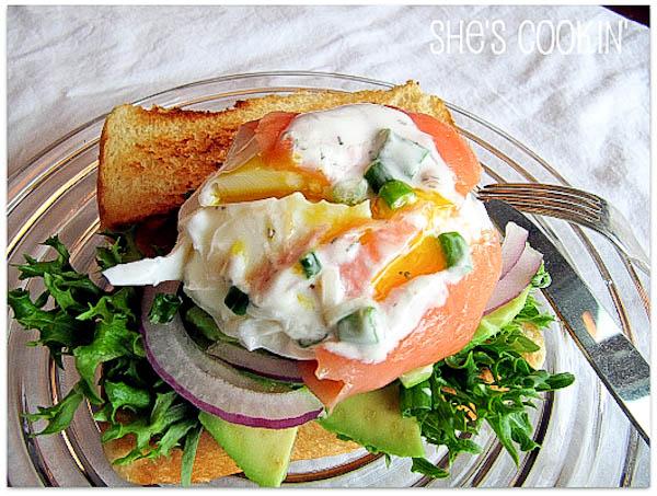 Salmon Wrapped Poached Eggs w/ Avocado