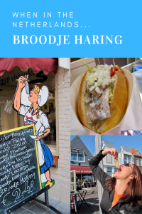 Eat broodje haring in the Netherlands