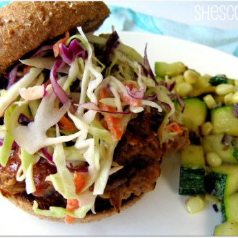 Pulled Pork and Mexican Zucchini with Corn