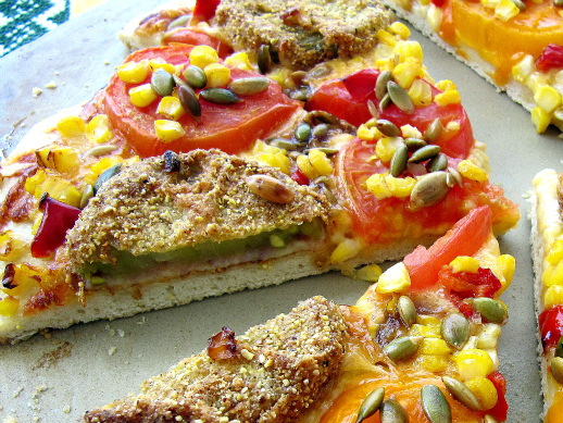 Fried Green Tomato Pizza - ShesCookin.com