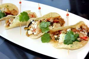 Anaheim Ducks Breakaway Bar & Grill Shrimp Tacos