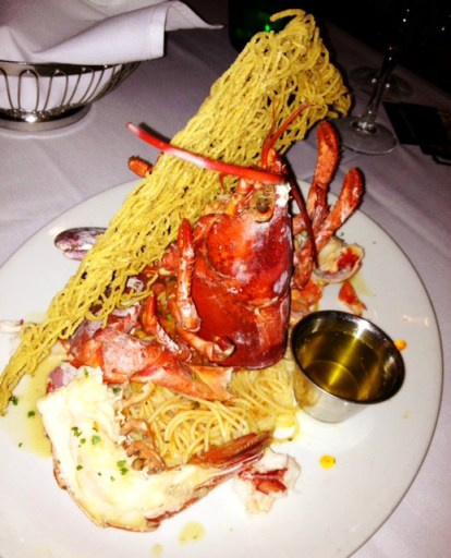 Lobster with Angel Hair and Meyer Lemon Buerre Blanc