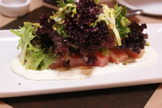 Beet salad, housemade ricotta, pistachio + white balsamic orange vinaigrette