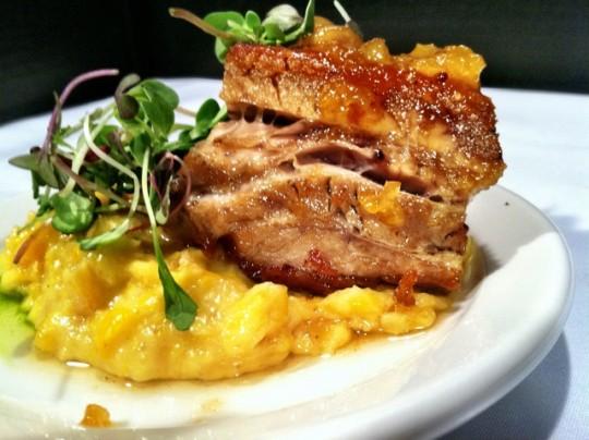 Lucca Cafe, crispy pork belly