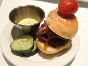 Lucca Cafe, angus beef tri-tip sliders