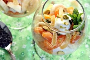 Tangerine Dream Parfait w/ Pistachios and Chia Seeds | ShesCookin.com
