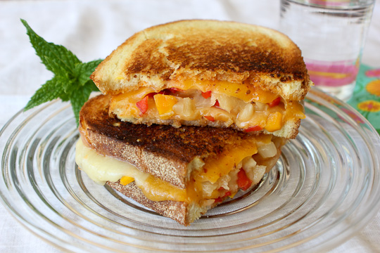 Grilled Cheese with mango and chipotle, Tillamook Cheese grilled cheese