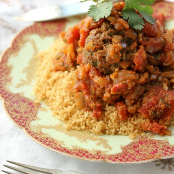 Moroccan spicy meatballs with charmoula