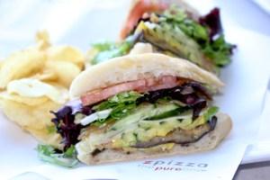 Z Cafe, Z Pizza, south coast plaza, roasted veggie sandwich