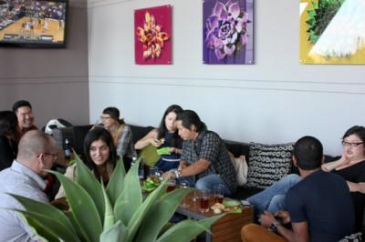 Z Cafe, South Coast Plaza, outdoor lounge
