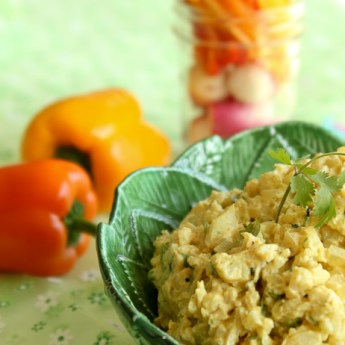 Curry Cauliflower Dip | ShesCookin.com