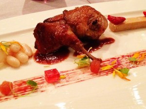 Tosca, Ritz Carlton Hong Kong, pigeon