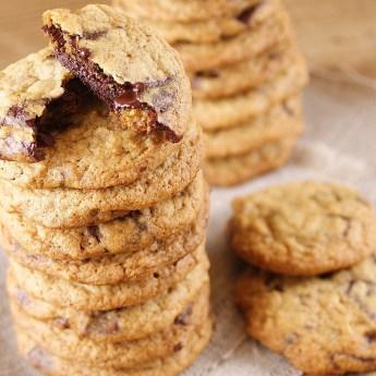 Light + Skinny Chocolate Chip Cookies