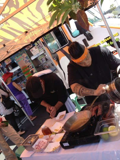 Chomp Chomp truck chefs at work