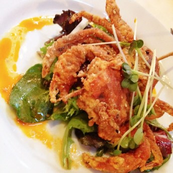 TAPS Fish House & Brewery, soft shell crab