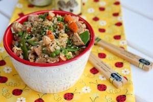 fried rice, pork fried rice, vegetable fried rice