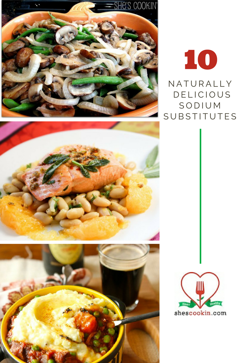 Collage of 10 Naturally Delicious Low Sodium Meals