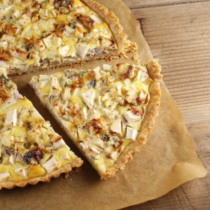 easy Thanksgiving recipes, Thanksgiving appetizers, Point Reyes blue cheese quiche