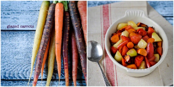 healthy Thanksgiving side dish recipes, glazed carrots, Kitchen Confidante