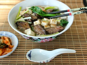 Beef Short Rib Noodle Soup with Greens