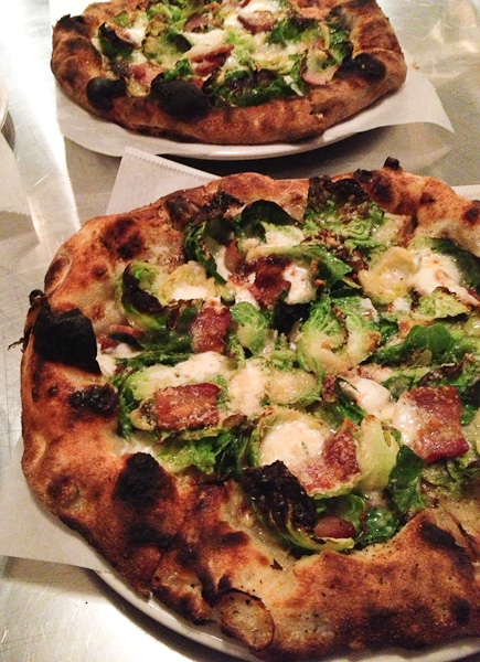 Pitfire Pizza, brussels sprouts pizza
