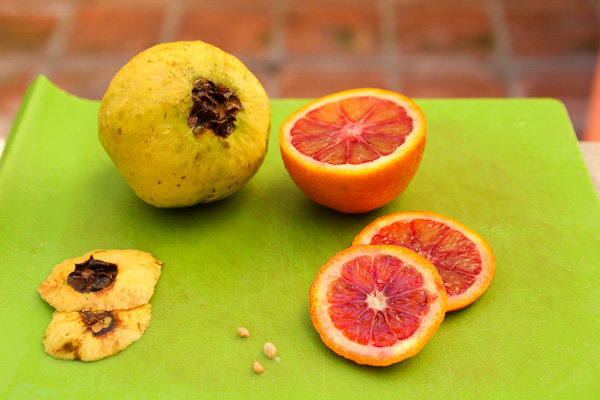 Guava, blood orange