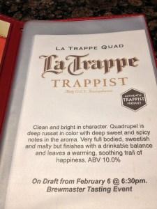La Trappe, Trappist beer, The Globe Dine Bar
