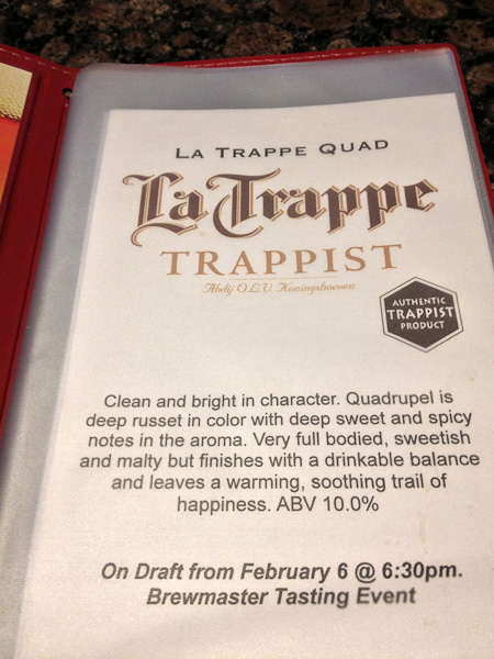 La Trappe, Trappist beer, The Globe Dine Bar