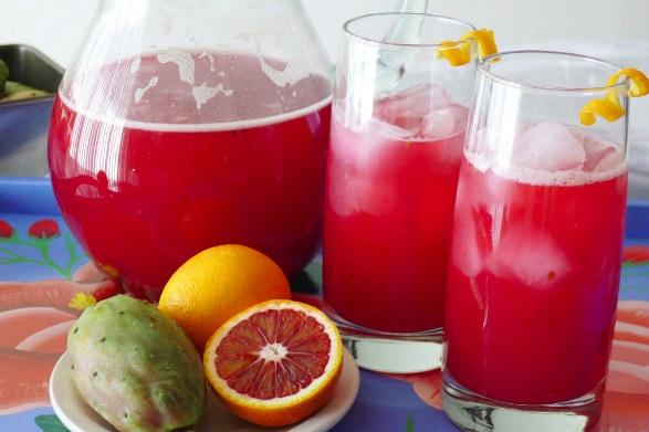 Prickly Pear Blood Orange Agua Fresca