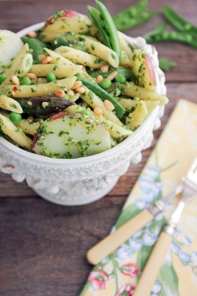 Potato with Arugula Pesto and Spring Vegetable Pasta-7202