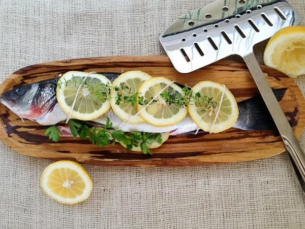 Lemon and Herb Stuffed Branzino, Lemon and Herb Stuffed Trout