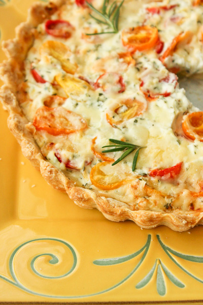 Herbed Heirloom tomato tart, savory tarts, french tart, tomato tart