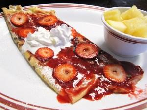 Strawberry Dessert Crepe