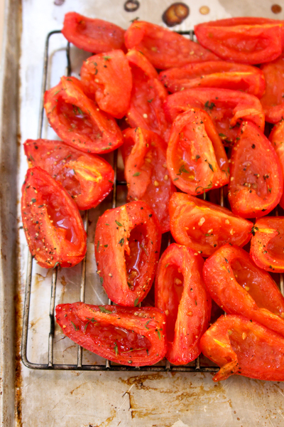 Eggplant with Hatch Chile and Roasted Tomatoes-7635