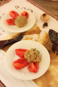 Eggplant and Hatch Chile with Roasted Tomatoes