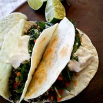 Indian-inspired Quinoa Street Tacos with Fig Sauce