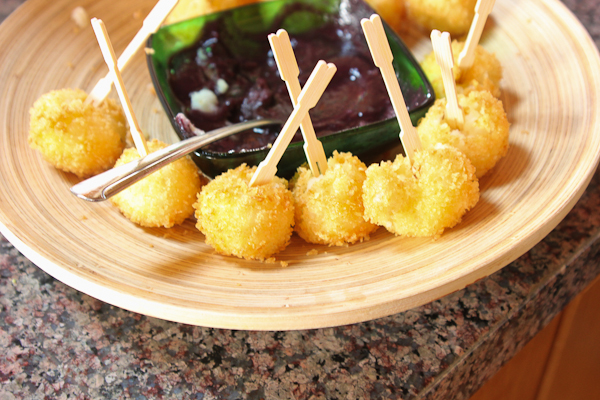 Mashed Potato Pops with Blueberry Not Ketchup