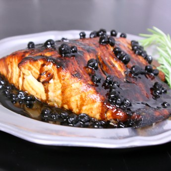 Salmon with Blueberry Balsamic Sauce ed-8427