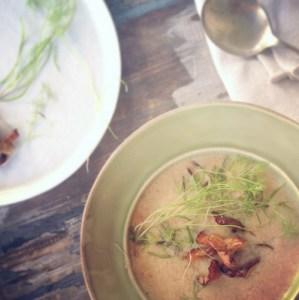 Chanterelle Mushroom Soup, Thanksgiving