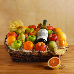 Melissa's Estate Harvest Wine Gift Basket