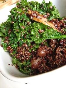 quinoa kale grape salad