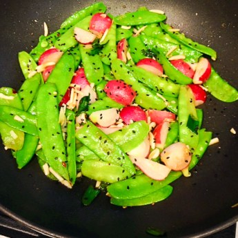 Chinese New Year – Snow Pea and Radish Stir Fry