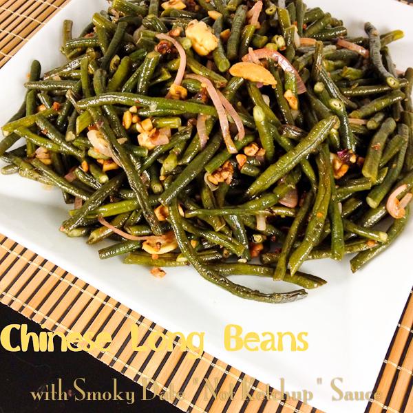 Chinese Long Beans, Smoky date, tamarind sauce