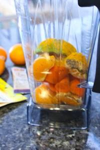 tangerine turmeric smoothie, antioxidant smoothie
