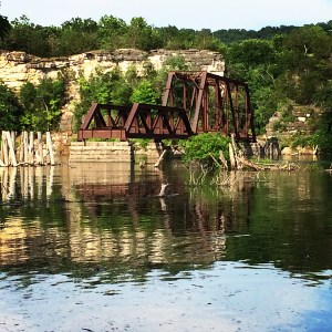 old trestle bridge, Eureka Springs, Arkanssas