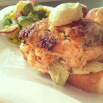 Shrimp and Crab Cake Burger
