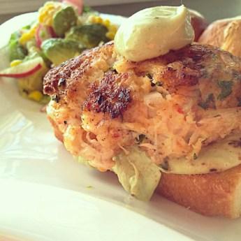 Shrimp and Crab Cake Burger