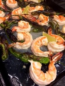 Shrimp and Shishito Peppers-