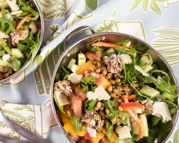Freekah, Arugula and Heirloom Tomato Salad