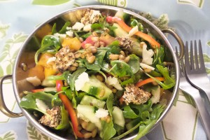 Freekah, Arugula and Heirloom Tomato Salad-